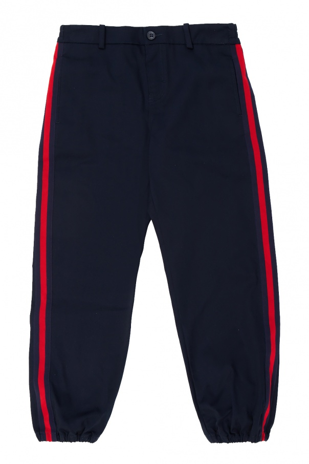 Gucci Kids Side stripe trousers