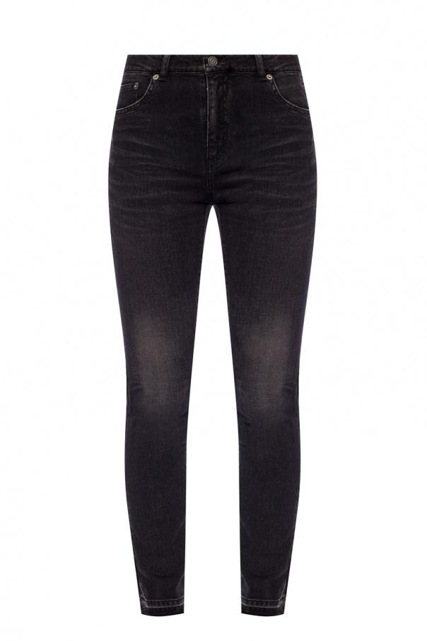 Saint Laurent Raw-trimmed jeans