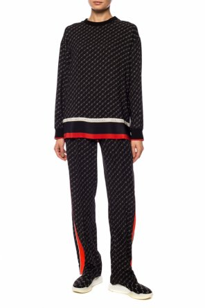 Logo pleat-front trousers od Stella McCartney