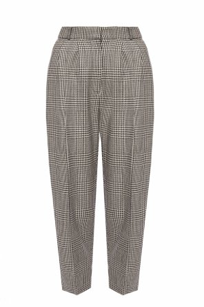 Checked pleat-front trousers od Alexander McQueen