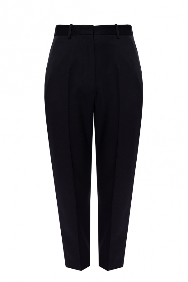 Alexander McQueen Pleat-front wool trousers