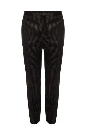 Trousers with lurex pinstripes od Saint Laurent