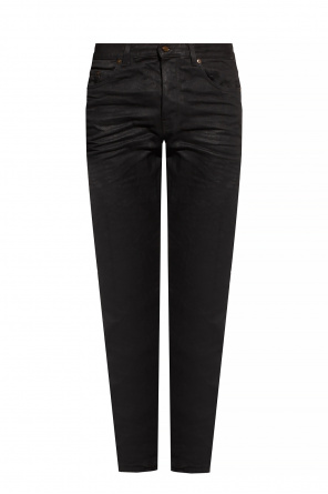 Gathered jeans od Saint Laurent