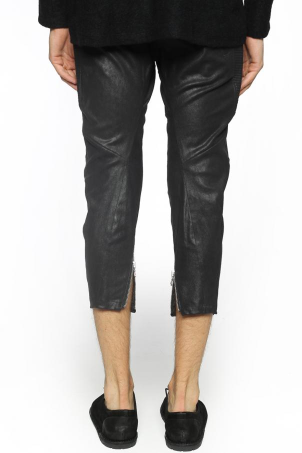 Dropped crotch leather trousers od Julius