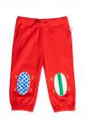 Stella McCartney Kids Spodnie dresowe z łatami