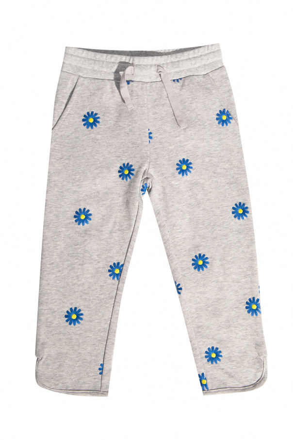 Stella McCartney Kids Floral-embroidered trousers