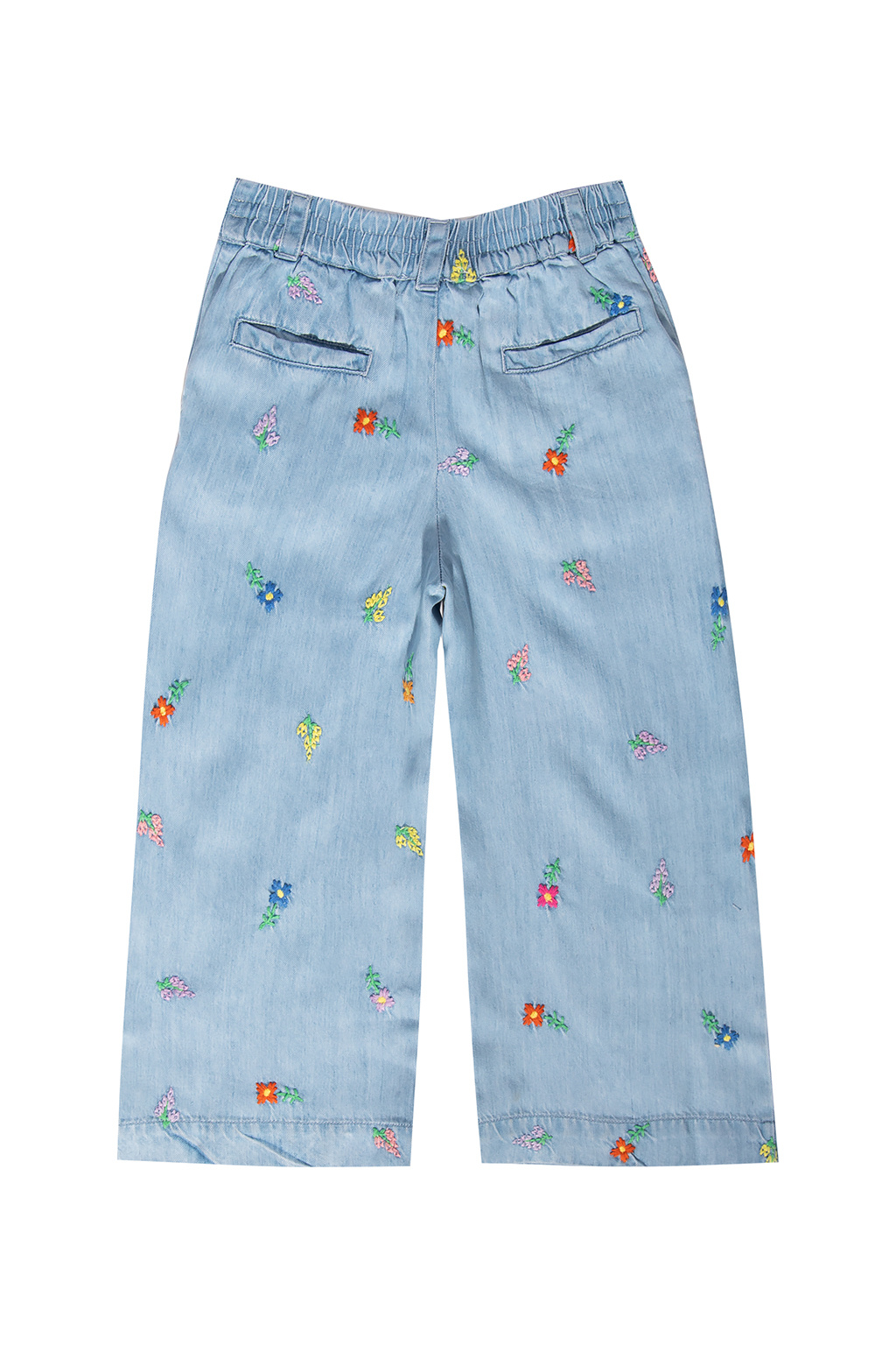 Stella McCartney Kids Jeansy z wyszytym wzorem