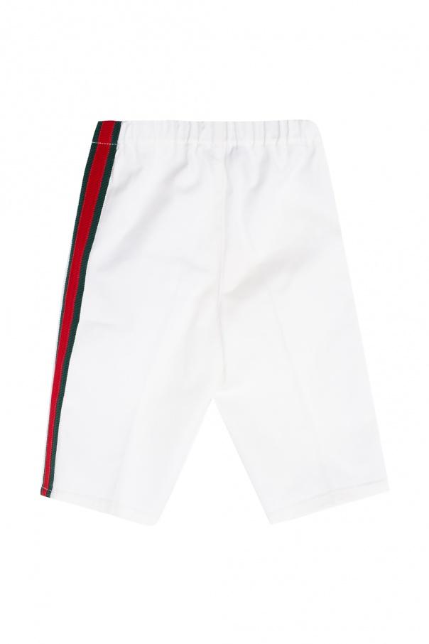 Gucci Kids 'Web' stripe trousers