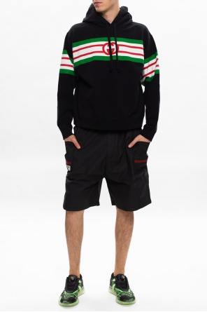 Coated shorts with logo od Gucci