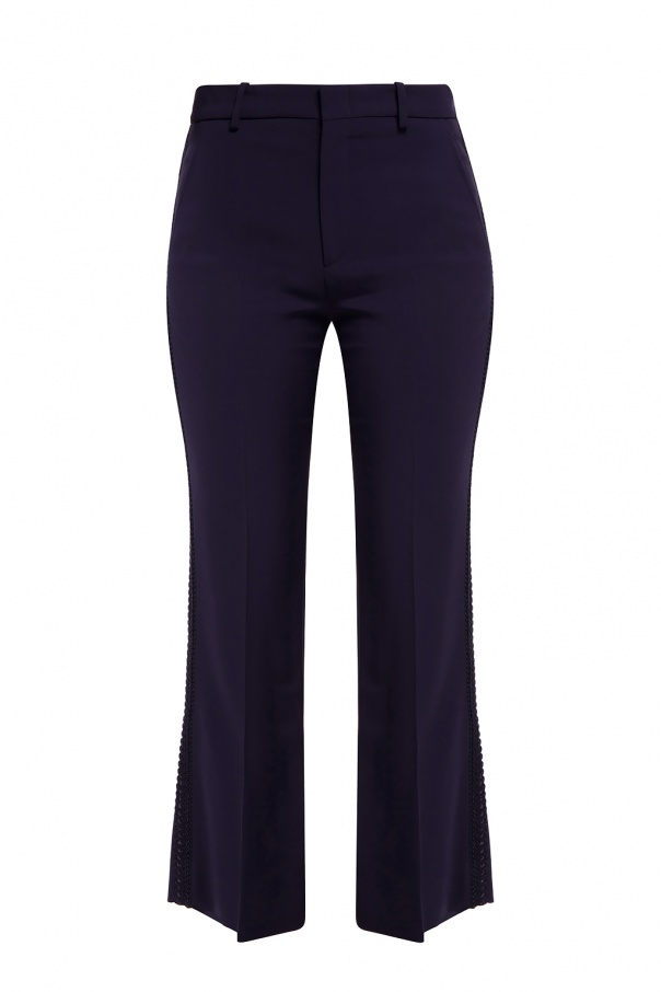 Gucci Ribbon trim trousers