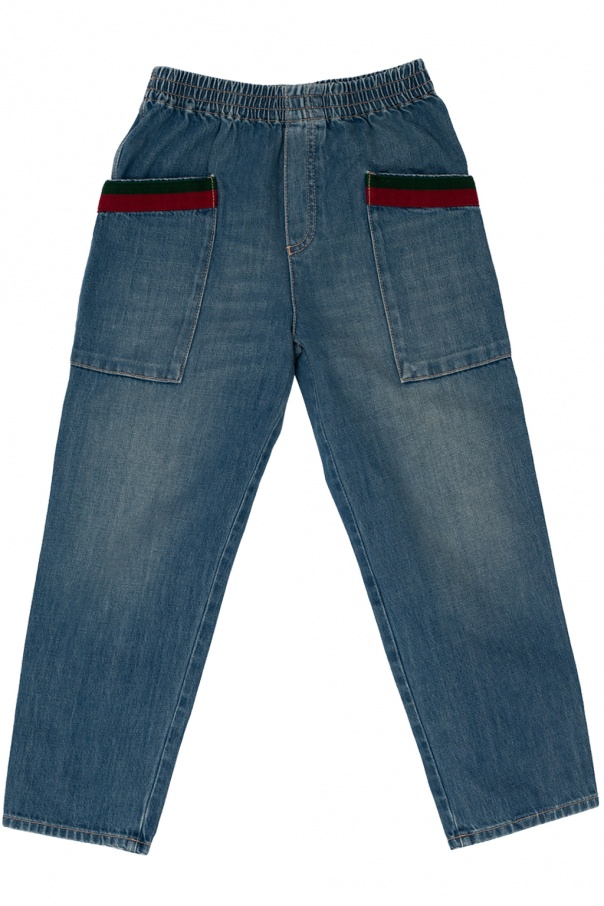 Gucci Kids Jeans with pockets
