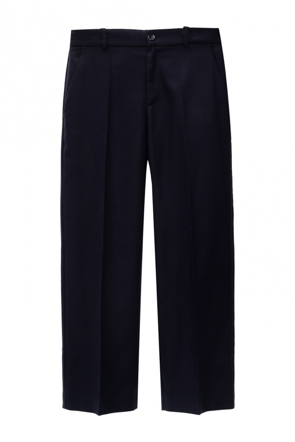 Gucci Kids Pleat-front wool trousers