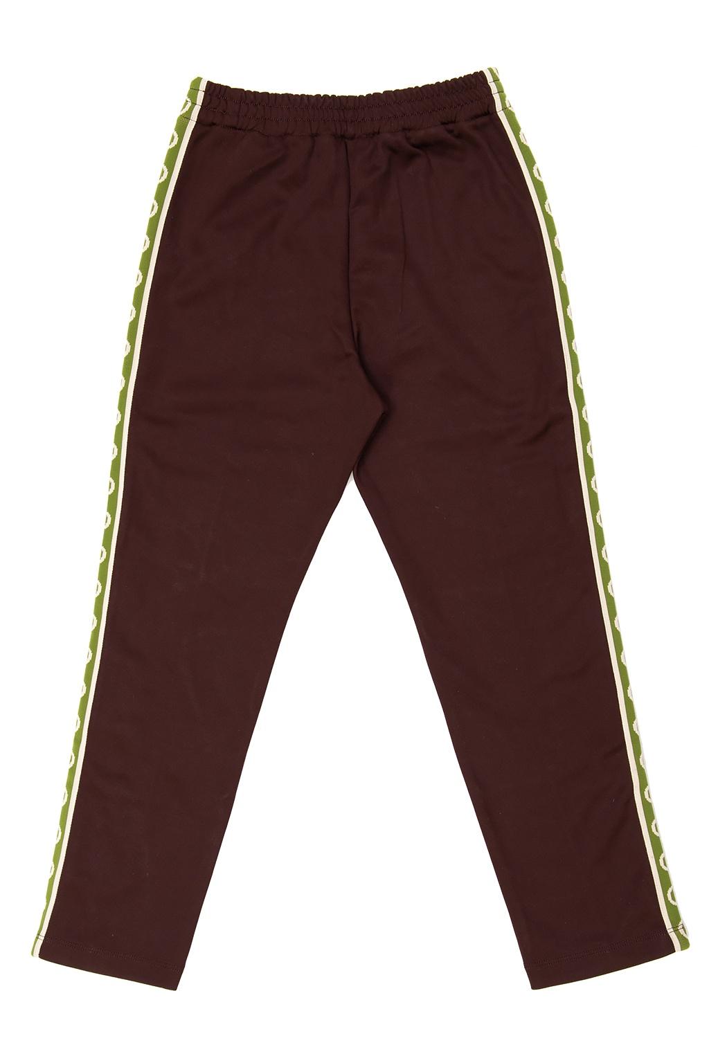Gucci Kids Side stripe trousers