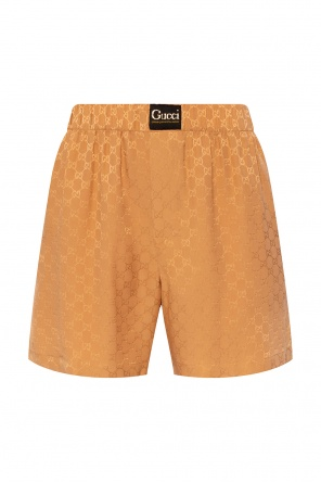 Silk shorts with logo od Gucci