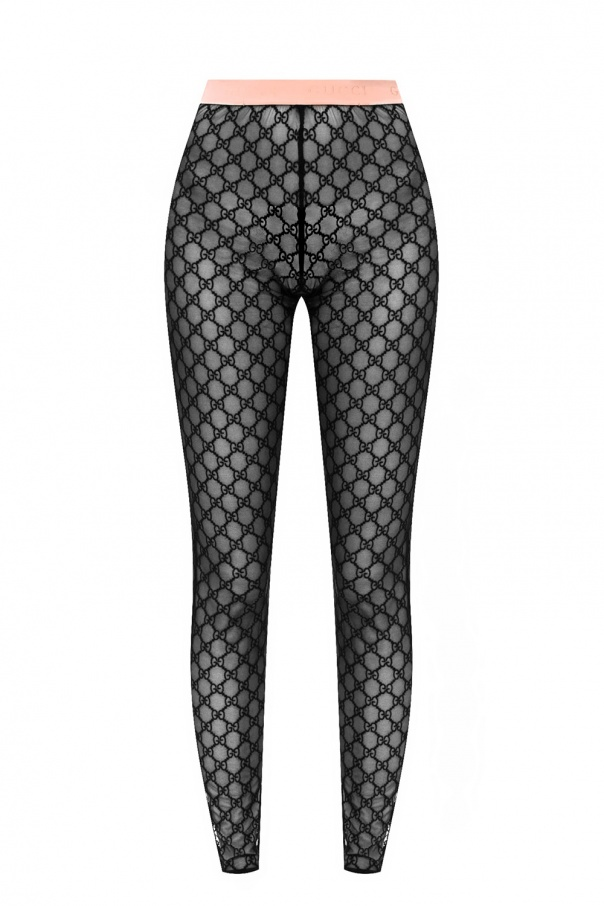 Gucci Sheer leggings with logo