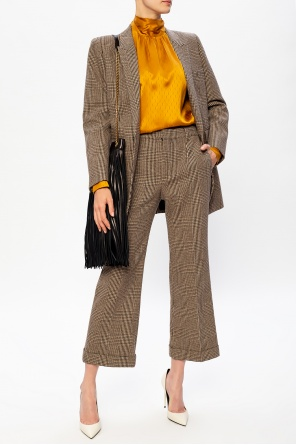 Checked wool trousers od Saint Laurent