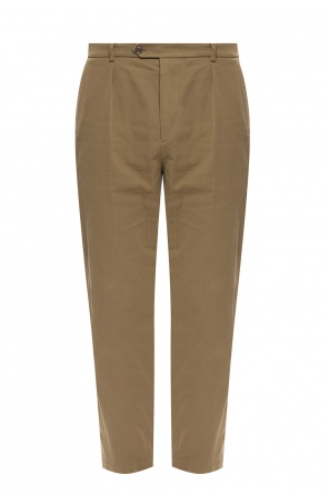 Branded pleat-front trousers od Gucci