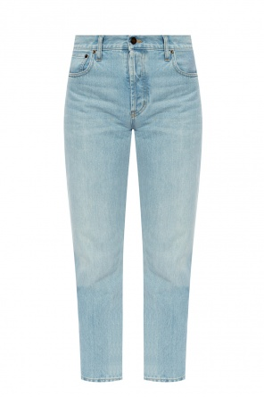 High-waisted jeans od Saint Laurent