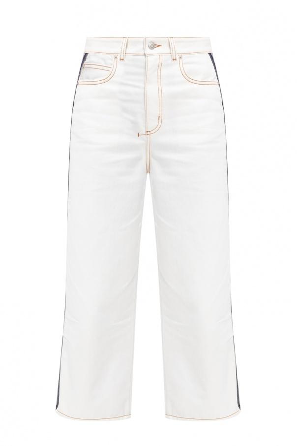 Alexander McQueen Side-stripe jeans