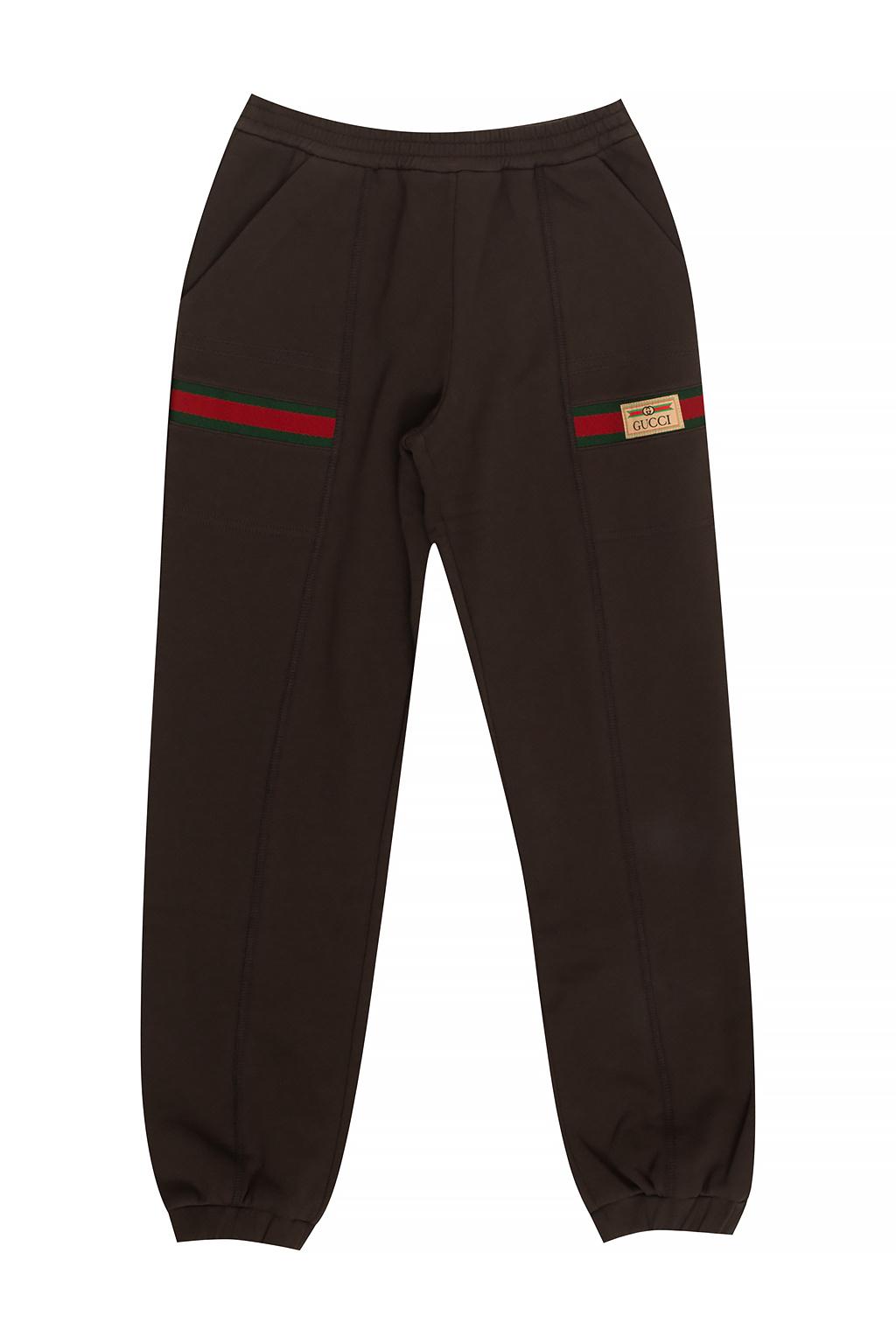 Gucci Kids Sweatpants with Web stripe