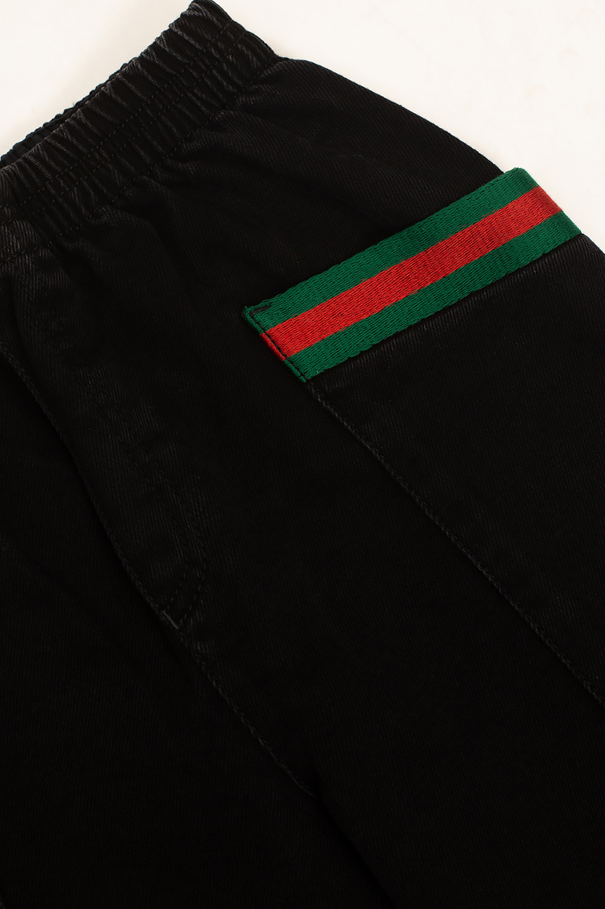 Gucci Kids Jeans with Web stripes