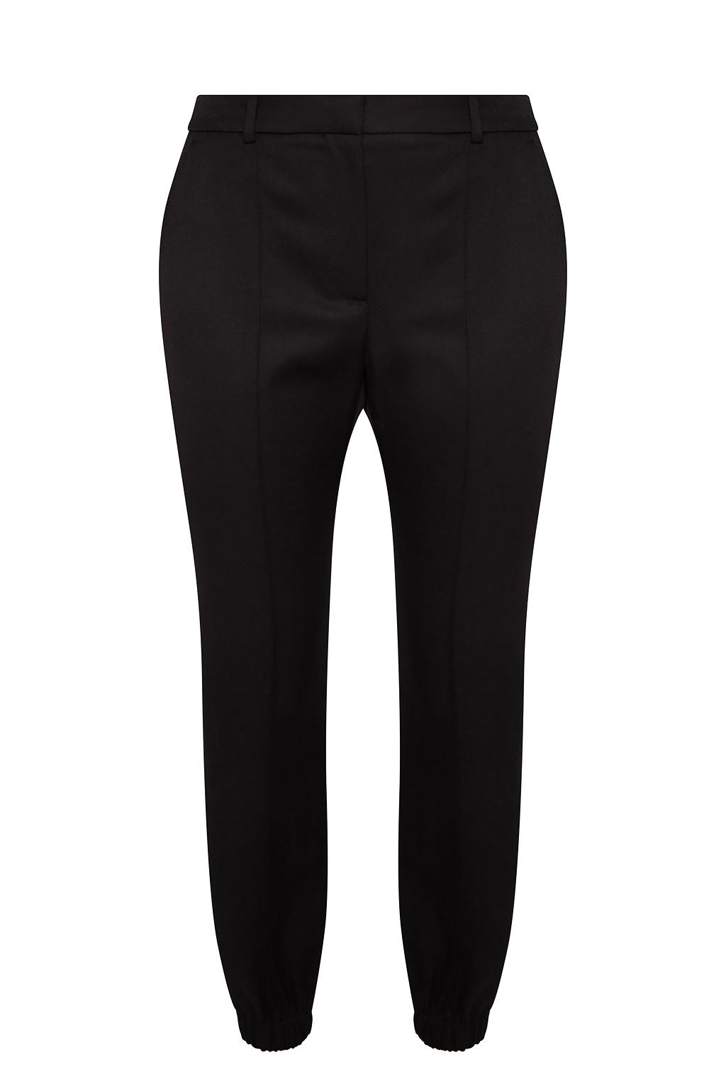 Alexander McQueen Spodnie z przeszyciem