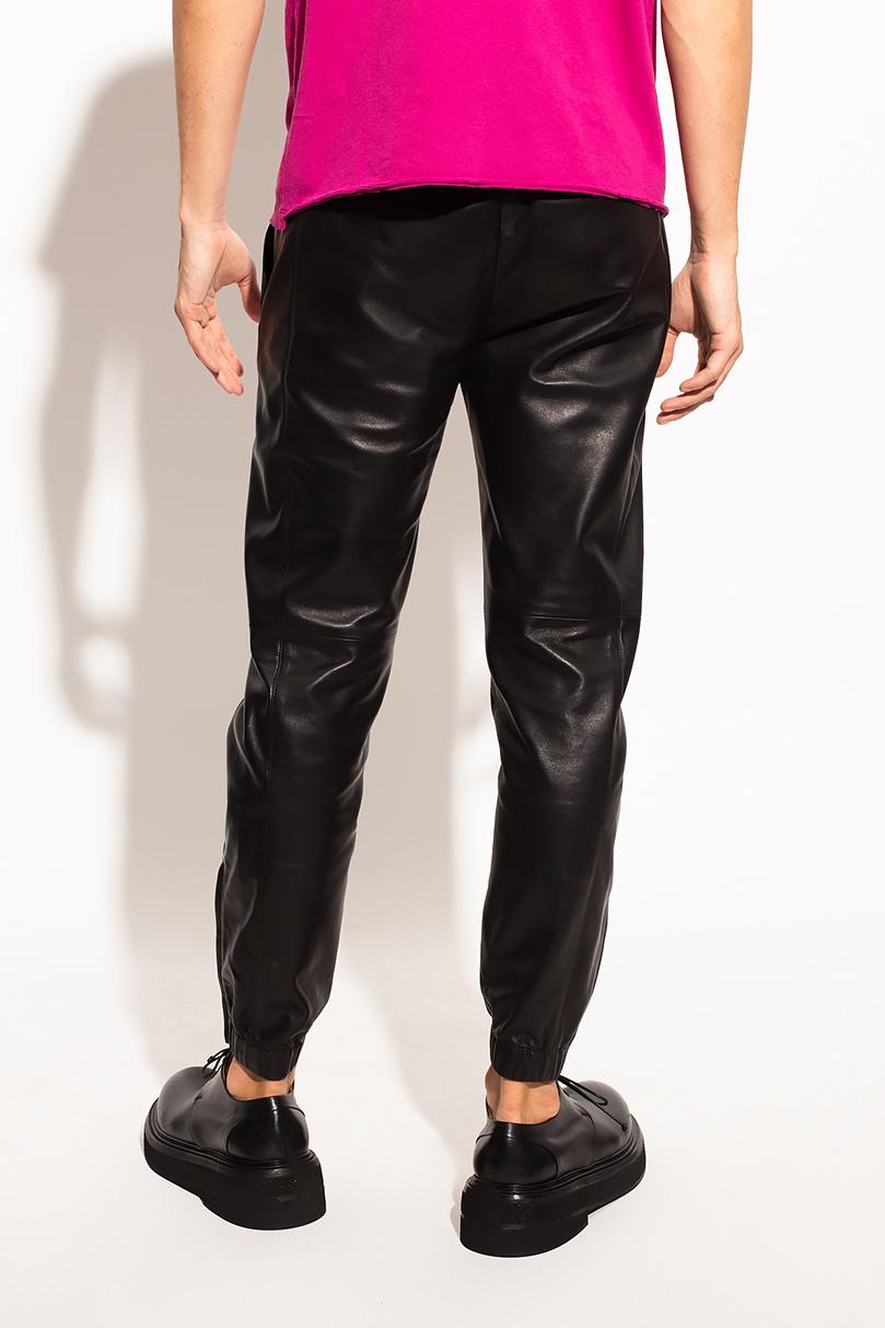 Saint Laurent 皮质长裤