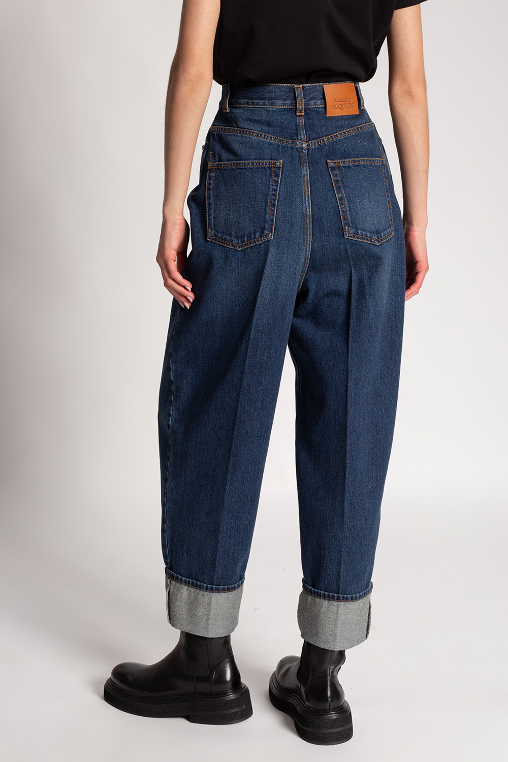 Alexander McQueen Jeans with turn up cuffs