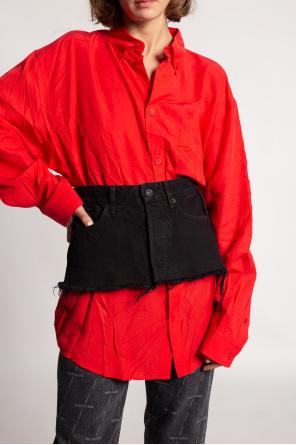 Denim waist belt od Balenciaga