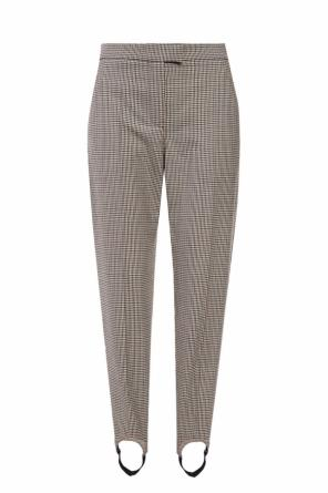 Pleat-front wool trousers od Burberry