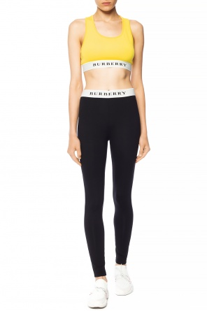 Logo-embroidered leggings od Burberry