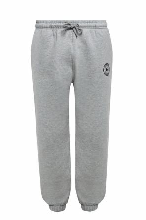 Logo-embroidered sweatpants od Burberry