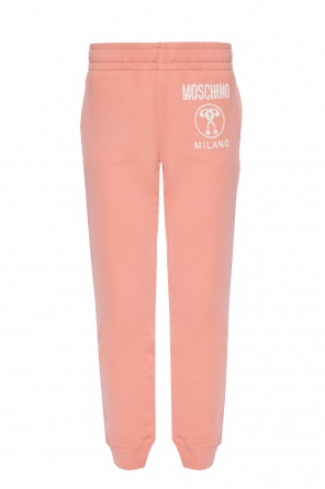 Sweatpants with a printed logo od Moschino
