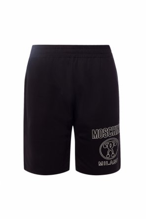 Szorty z nadrukowanym logo od Moschino