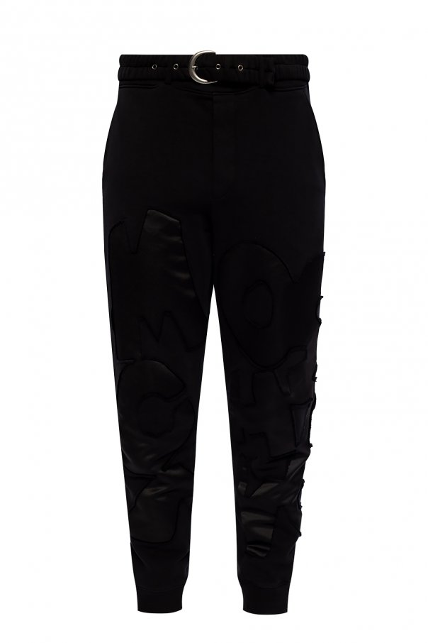 Moschino Embroidered sweatpants