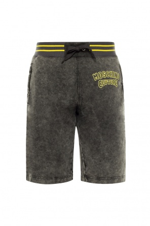 Logo-embroidered shorts od Moschino