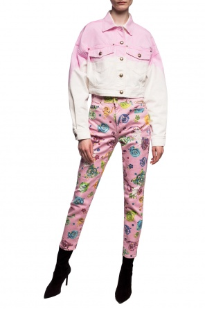 Patterned jeans with logo od Versace Jeans Couture