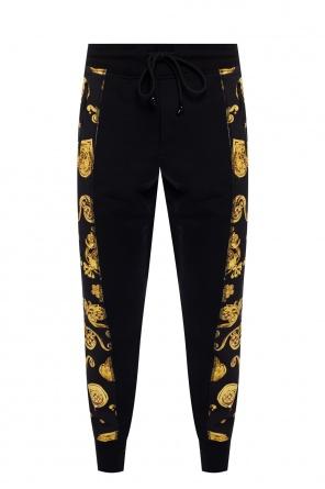 Baroque motif sweatpants od Versace Jeans Couture