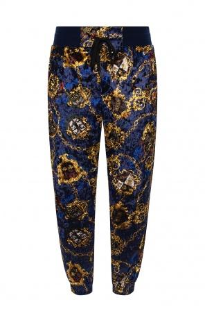 Velvet sweatpants od Versace Jeans Couture