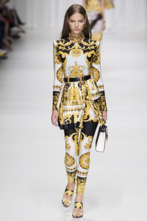 'baroque' leggings od Versace
