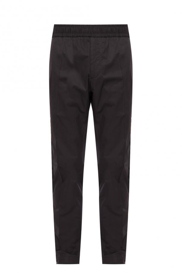 Branded side-stripe trousers od Versace