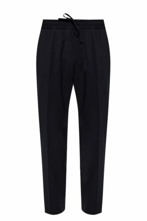 Pleat-front trousers od Versace