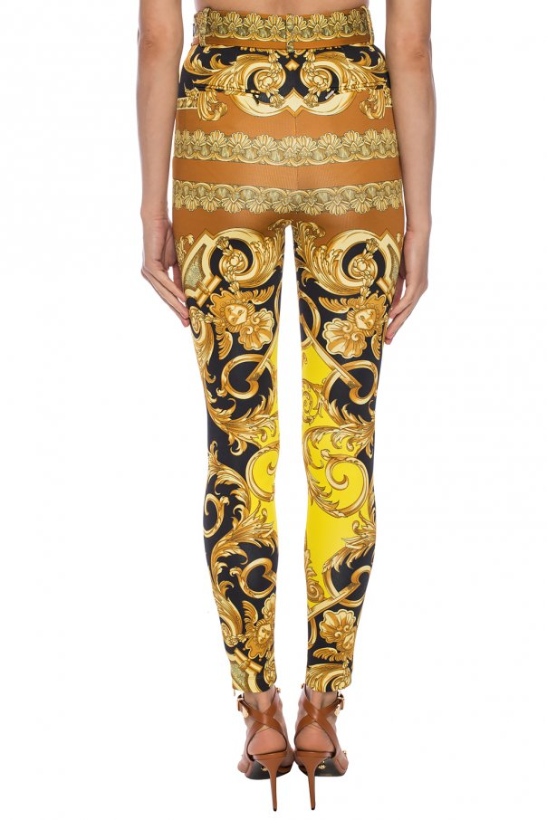 Baroque-printed trousers od Versace
