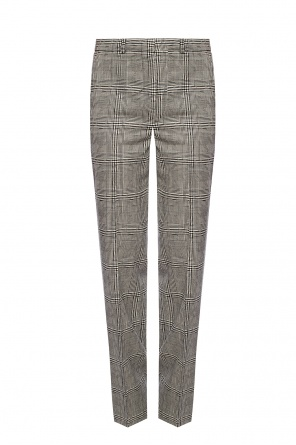Checked pleat-front trousers od Versace