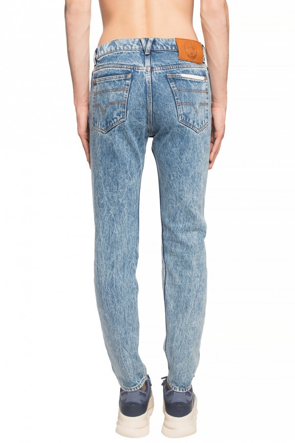 Versace Jeansy z  prostymi nogawkami CBxGjx3C