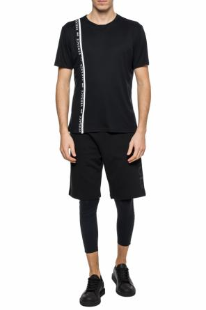 Logo-embroidered leggings od Versace