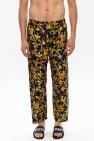 Versace Barocco-printed silk trousers