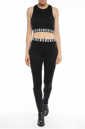 Logo-embroidered leggings od Versace Versus