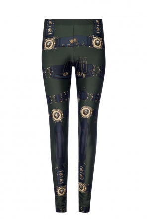 Lion head leggings od Versace Versus