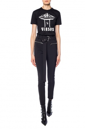 Belted trousers od Versace Versus